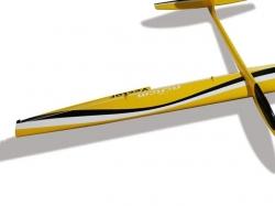 Flügel Rechts RCRCM Minivec gelb/schwarz GFK