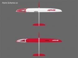 RCRCM Jarvis CFK+ 2.55m Weiss/Rot mit Schutztasche