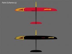 RCRCM Jarvis CFK+ 2.55m Rot/Schwarz mit Schutztasche