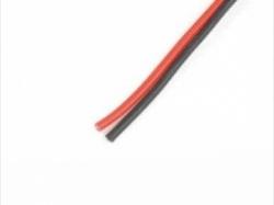 Silikonkabel 5.5mm2 10AWG 1946Litzen rot/schwarz je 1m