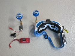 FPV Komplettset mit Kamera, Sender, Emfpänger und Videobri..