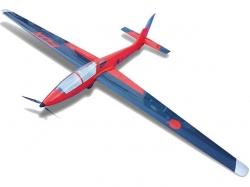 Tomahawk MDM-1 Fox 3.5m Elektro PNP Rot/Schwarz Voll Gfk, ..