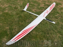 PnP RCRCM E-Predator III Spw. 2,96m GFK+ Weiss/Rot mit Rox..
