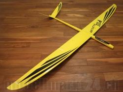 RCRCM E-PredatorIII Spw.2,96m Doppel-CFK+ Gelb/Schwarz m. ..
