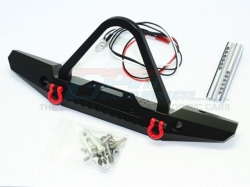 ALUMINUM FRONT BUMPER WITH LED LIGHTS FOR CRAWLERS (B)Schw..