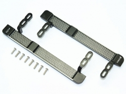 ALUMINUM SIDE STEPS (RETICULATED PATTERN) Schwarz 1/10 Tra..