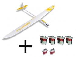 Set RCRCM Typhoon Plus El. CFK+ W/G inkl. Servos