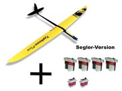 Set RCRCM Typhoon Plus GFK+ G/S inkl. Servos