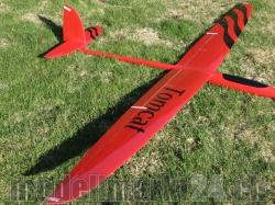 RCRCM E-Tomcat Spw.2.6m CFK+(Carbon) Rot/Schwarz mit Schut..