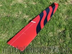 Ersatzflügel Links RCRCM E-Tomcat oder Tomcat CFK Rot/Schw..