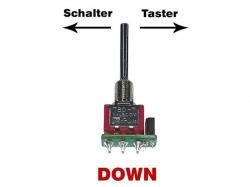 Tast-Schalter DOWN (Lang) für DS Fernsteuerung von Jeti
