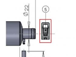 Klammer zu Kanisteranlage DLE35RA