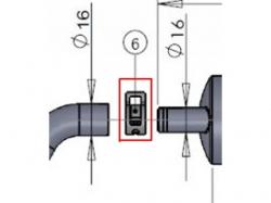 Klammer zu Kanisteranlage DLE55RA
