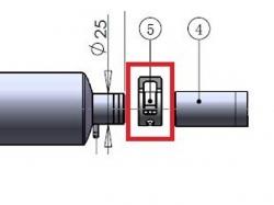 Klammer 25mm zu Kanisteranlage DLE111