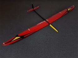 RCRCM Tabu Spw. 2.976m CFK (Carbon) Rot/Schwarz m. Schutzt..