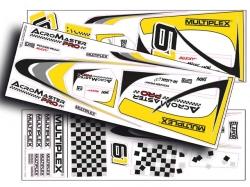 Dekorbogen gelb-silber AcroMaster Pro von Multiplex