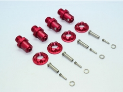 ALUMINUM 17MM HEX ADAPTERS FOR FRONT/REAR Rot -20PC SET
