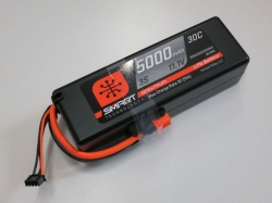 Spektrum 5000mAh 3S 11.1V 30C Smart LiPo, IC3, Hardcase