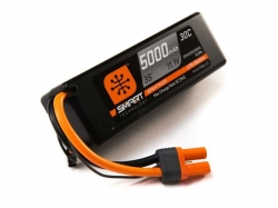 Spektrum 5000mAh 3S 11.1V 30C Smart LiPo, IC5, Hardcase