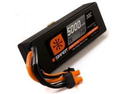 Spektrum 5000mAh 2S 7.4V 30C Smart LiPo, IC3, Hardcase