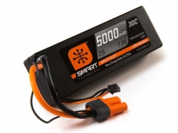 Spektrum 5000mAh 2S 7.4V 30C Smart LiPo, IC5, Hardcase