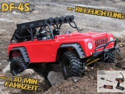 DF-4S Scale-Crawler Rot 1:10 mit Beleuchtung 4WD RTR, RC-M..