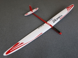 RCRCM Tomcat Evo Elektro 2.5m CFK Weiss/Rot mit Schutztasc..