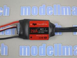 Favourite 20A Brushless ESC mit Linear-BEC 5V/2A Sky-Series