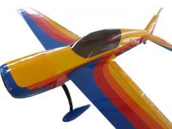 """AeroPlusRC Extra 300L 30CC Spw. 1.86m Gelb/Rosa """"Hawks of Romania"""" Design"""