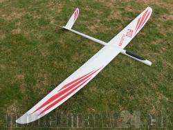 PnP RCRCM E-Predator III Spw. 2,96m GFK+ Weiss/Rot mit Roxxy 3548